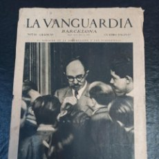 Militaria: LA VANGUARDIA. BARCELONA. 18 DE JULIO DE 1936. Lote 216859241