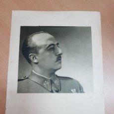 Militaria: ANTIGUO CARTEL LAMINA FRANCISCO FRANCO CAUDILLO RETRATO OFICIAL EDICIONES ESPAÑOLAS SEVILLA MUY RARO. Lote 218702305