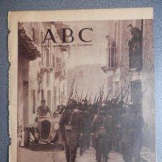 Militaria: PERIÓDICO REPUBLICANO GUERRA CIVIL ABC 12/05/1937 FOTOS HELLÍN ALBACETE, MADRID, AVANCE TOLEDO. Lote 219090830