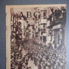 Militaria: PERIÓDICO REPUBLICANO GUERRA CIVIL ABC 14/05/1937 CASPE HOMENAJE A MÉJICO, ALMERÍA ATAQUE BARCO. Lote 219096207