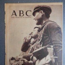 Militaria: PERIÓDICO REPUBLICANO GUERRA CIVIL ABC 15/05/1937 AVANCE EN LEÓN SE LLEGA A LILLO, BATALLA SOLLUBE. Lote 219097088