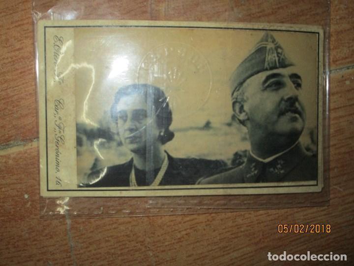 FRANCO Y CARMEN POLO CUÑO TROQUEL FALANGE ESPAÑA FOTOGRAFIA E. OTERO MADRID (Militar - Guerra Civil Española)