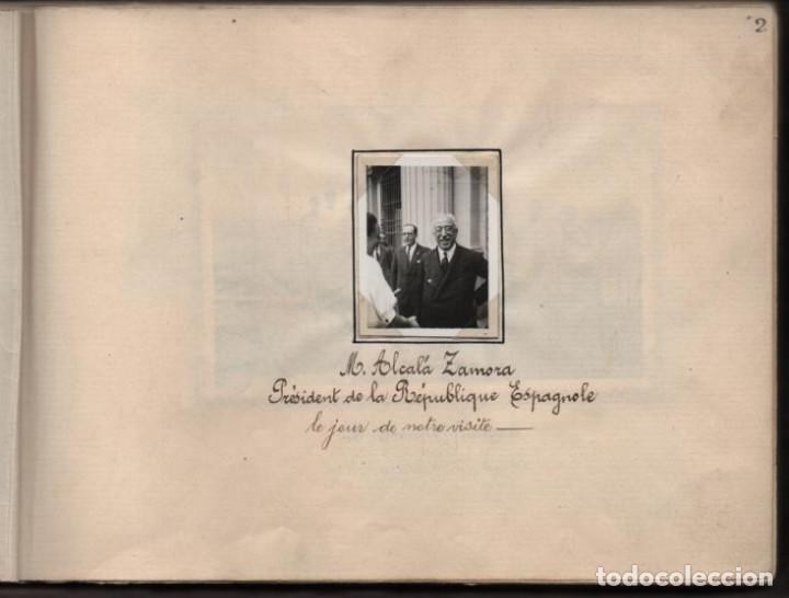 Militaria: ALBUN CON FOTOS,POSTALES Y DIBUJOS, VISITA GRUPO FRANCESES A ESPAÑA AÑO 1933, VER FOTOS - Foto 2 - 220700491