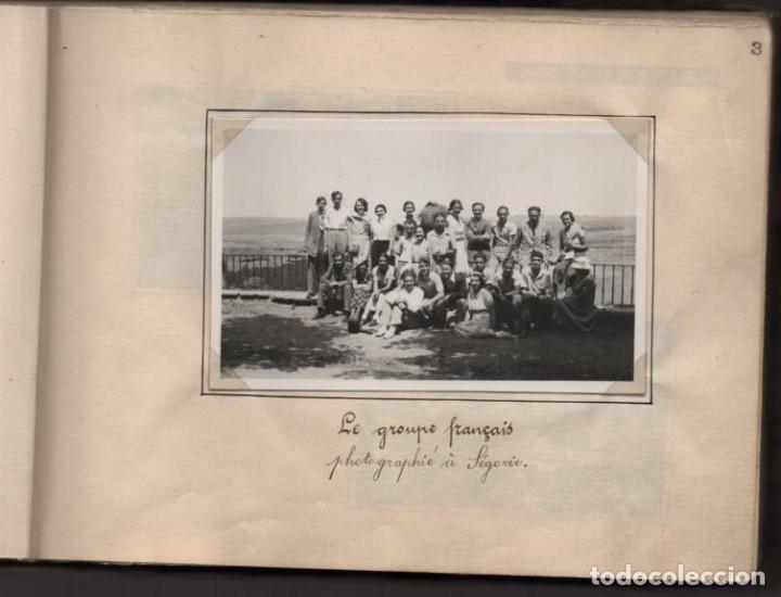 Militaria: ALBUN CON FOTOS,POSTALES Y DIBUJOS, VISITA GRUPO FRANCESES A ESPAÑA AÑO 1933, VER FOTOS - Foto 3 - 220700491