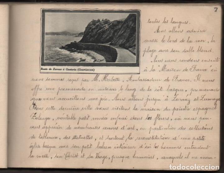 Militaria: ALBUN CON FOTOS,POSTALES Y DIBUJOS, VISITA GRUPO FRANCESES A ESPAÑA AÑO 1933, VER FOTOS - Foto 8 - 220700491