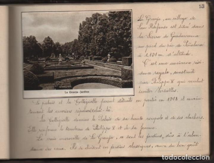 Militaria: ALBUN CON FOTOS,POSTALES Y DIBUJOS, VISITA GRUPO FRANCESES A ESPAÑA AÑO 1933, VER FOTOS - Foto 11 - 220700491