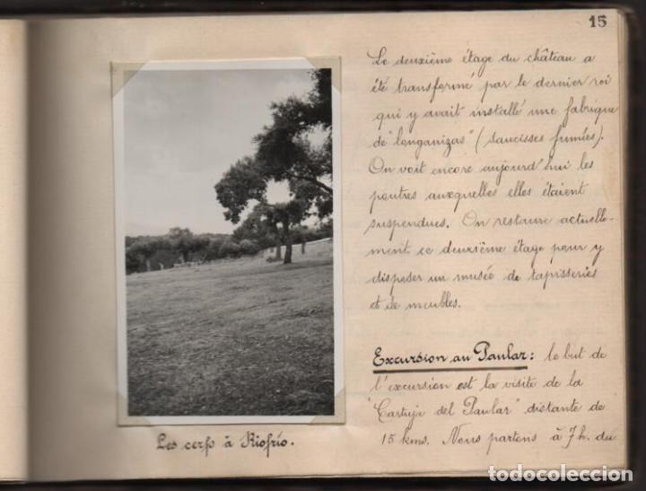 Militaria: ALBUN CON FOTOS,POSTALES Y DIBUJOS, VISITA GRUPO FRANCESES A ESPAÑA AÑO 1933, VER FOTOS - Foto 12 - 220700491