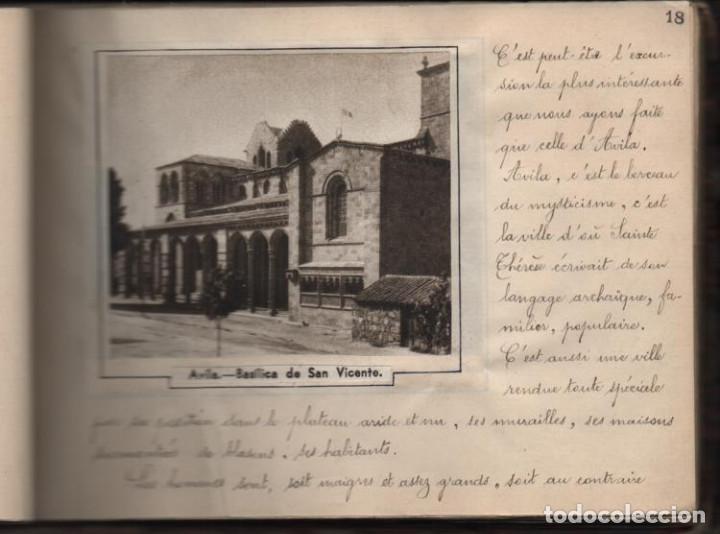 Militaria: ALBUN CON FOTOS,POSTALES Y DIBUJOS, VISITA GRUPO FRANCESES A ESPAÑA AÑO 1933, VER FOTOS - Foto 14 - 220700491