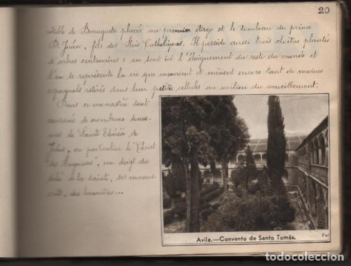 Militaria: ALBUN CON FOTOS,POSTALES Y DIBUJOS, VISITA GRUPO FRANCESES A ESPAÑA AÑO 1933, VER FOTOS - Foto 15 - 220700491