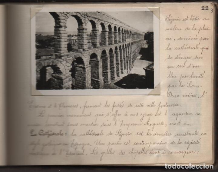 Militaria: ALBUN CON FOTOS,POSTALES Y DIBUJOS, VISITA GRUPO FRANCESES A ESPAÑA AÑO 1933, VER FOTOS - Foto 17 - 220700491