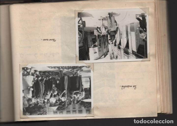 Militaria: ALBUN CON FOTOS,POSTALES Y DIBUJOS, VISITA GRUPO FRANCESES A ESPAÑA AÑO 1933, VER FOTOS - Foto 18 - 220700491