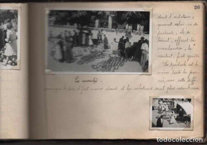 Militaria: ALBUN CON FOTOS,POSTALES Y DIBUJOS, VISITA GRUPO FRANCESES A ESPAÑA AÑO 1933, VER FOTOS - Foto 19 - 220700491
