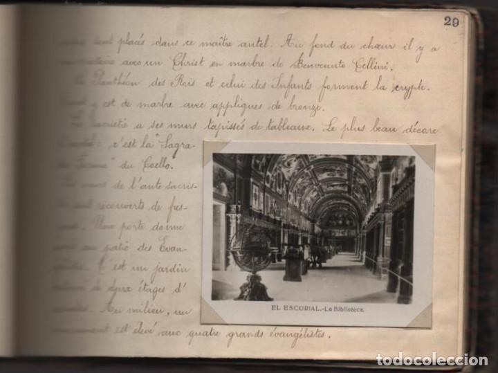Militaria: ALBUN CON FOTOS,POSTALES Y DIBUJOS, VISITA GRUPO FRANCESES A ESPAÑA AÑO 1933, VER FOTOS - Foto 21 - 220700491