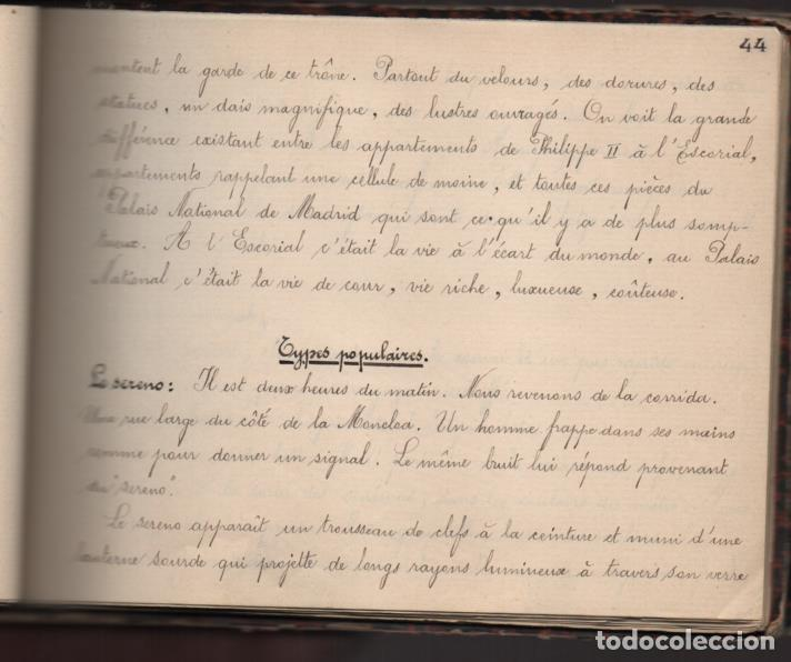 Militaria: ALBUN CON FOTOS,POSTALES Y DIBUJOS, VISITA GRUPO FRANCESES A ESPAÑA AÑO 1933, VER FOTOS - Foto 28 - 220700491
