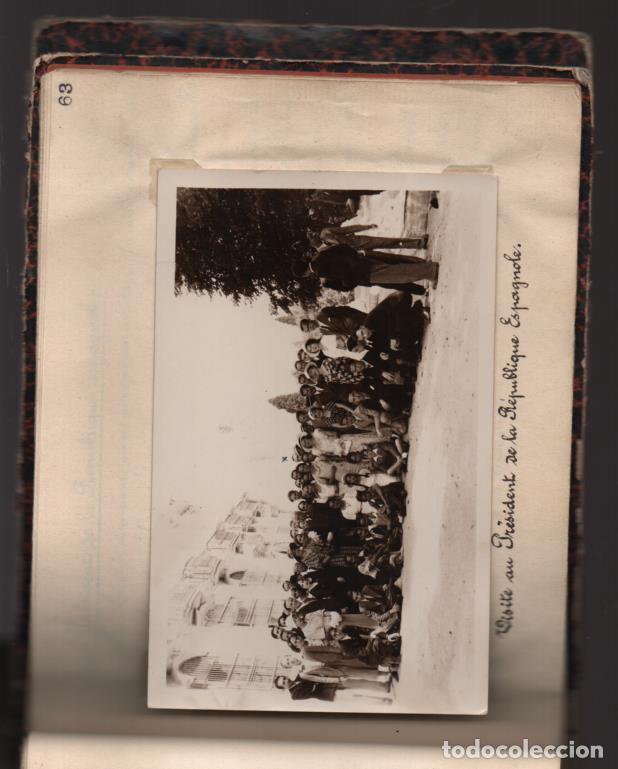 Militaria: ALBUN CON FOTOS,POSTALES Y DIBUJOS, VISITA GRUPO FRANCESES A ESPAÑA AÑO 1933, VER FOTOS - Foto 35 - 220700491