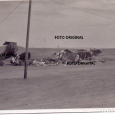 Militaria: AERODROMO CAUDE TERUEL AVIONES NACIONALES AVERIADOS FRENTE ARAGON LEGION CONDOR. Lote 221480153