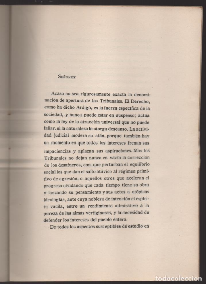 Militaria: DISCURSO LEIDO. EXCMO. SEÑOR.- VICENTE CANTOS FIGUEROLA, MINISTRO DE JUSTICIA, AÑO 1934-VER FOTOS - Foto 2 - 221761731