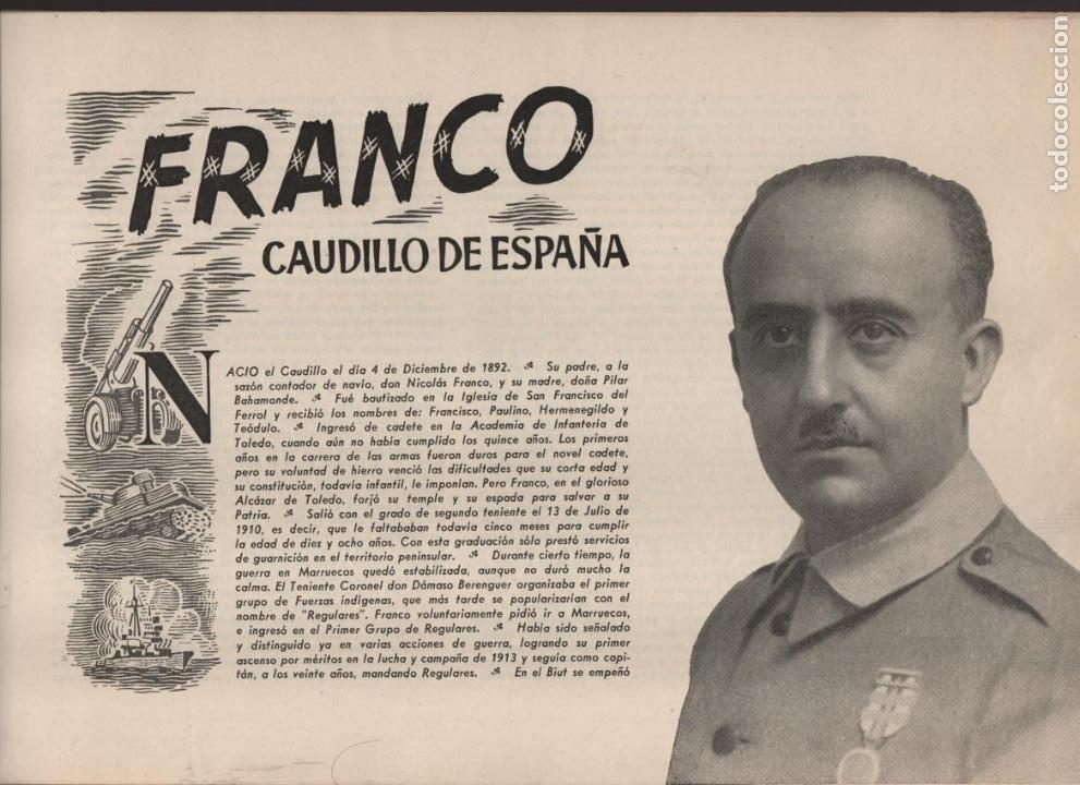 Militaria: ESPAÑA Y SU GLORIOSO EJERCITO,- NOTICIAS Y PARTES OFICIALES DE GUERRA-1936-1939- MAS DE 160 PAG. - Foto 4 - 221762632