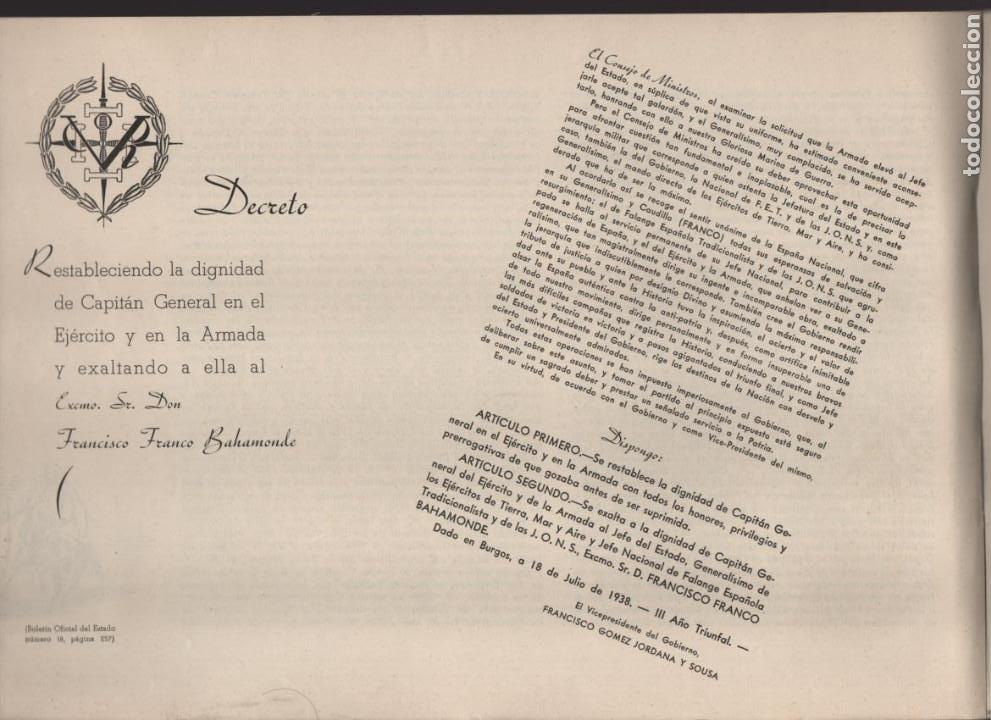 Militaria: ESPAÑA Y SU GLORIOSO EJERCITO,- NOTICIAS Y PARTES OFICIALES DE GUERRA-1936-1939- MAS DE 160 PAG. - Foto 5 - 221762632