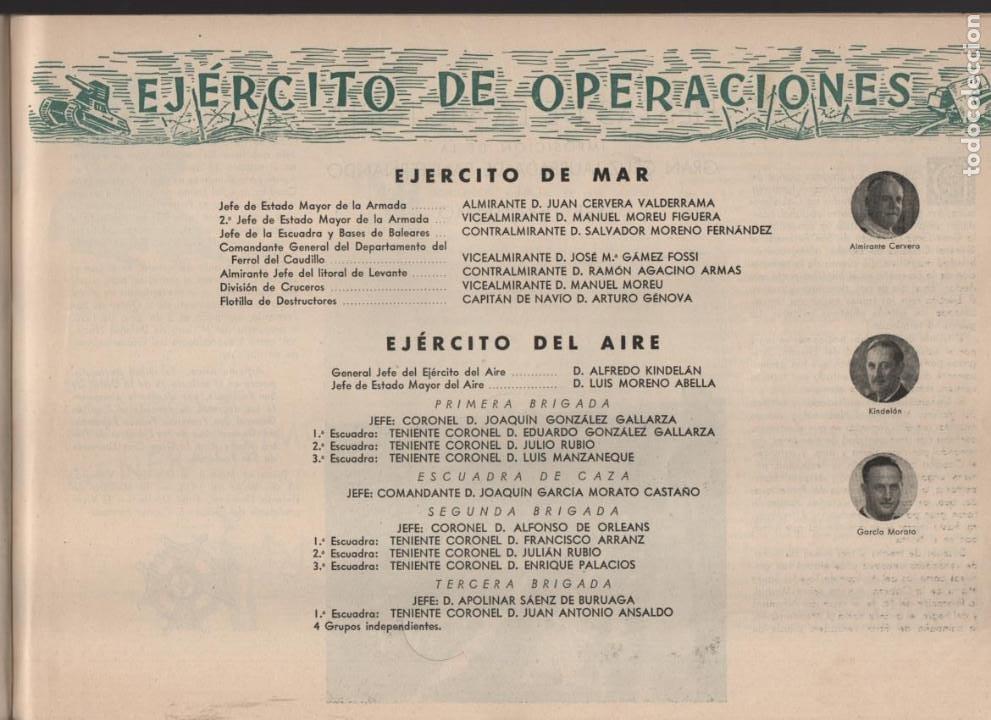 Militaria: ESPAÑA Y SU GLORIOSO EJERCITO,- NOTICIAS Y PARTES OFICIALES DE GUERRA-1936-1939- MAS DE 160 PAG. - Foto 15 - 221762632