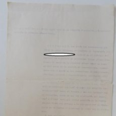 Militaria: EJÉRCITO VOLUNTARIO BATALLÓN ALBACENTE N 5 1937 CERTIFICADO PARA EXPEDIENTE PERSONAL TRANSMISIONES... Lote 222269415