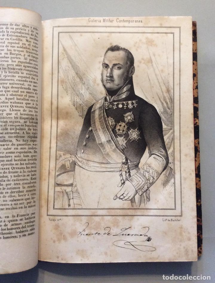 Militaria: HISTORIA DE GUERRA CIVIL GALERIA MILITAR CONTEMPORANEA AÑO 1846 - (2vol.enc.) - Foto 3 - 225190770