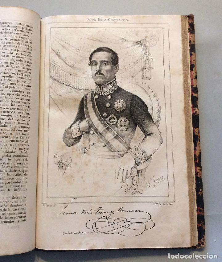 Militaria: HISTORIA DE GUERRA CIVIL GALERIA MILITAR CONTEMPORANEA AÑO 1846 - (2vol.enc.) - Foto 4 - 225190770