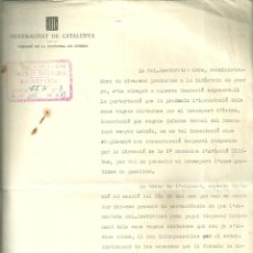 Militaria: 3992.-GUERRA CIVIL-GENERALITAT CATALUNYA-COMISSIÓ DE LA INDÚSTRIA DE GUERRA-FERROCARRILES DEL NORTE. Lote 225733850