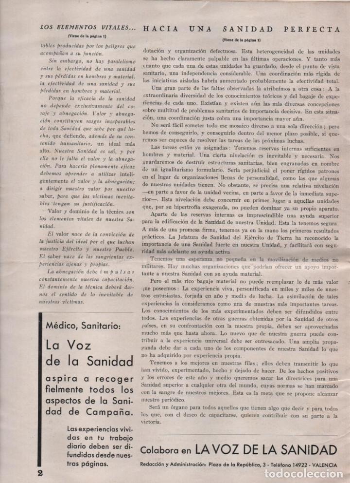 Militaria: LA VOZ DE SANIDAD, REPUBLICA- DEL EJERCITO EN MANIOBRAS- AÑO I , Nº 1 - FEBRERO 1938,- 12 PAGINAS, - Foto 2 - 226789640