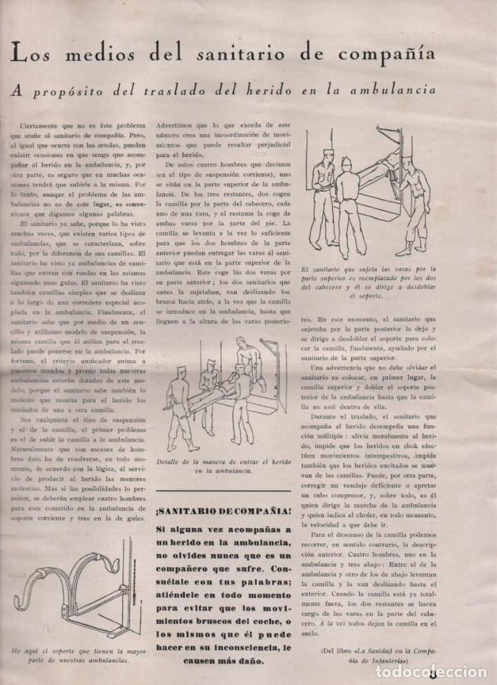 Militaria: LA VOZ DE SANIDAD, REPUBLICA- DEL EJERCITO EN MANIOBRAS- AÑO I , Nº 1 - FEBRERO 1938,- 12 PAGINAS, - Foto 3 - 226789640
