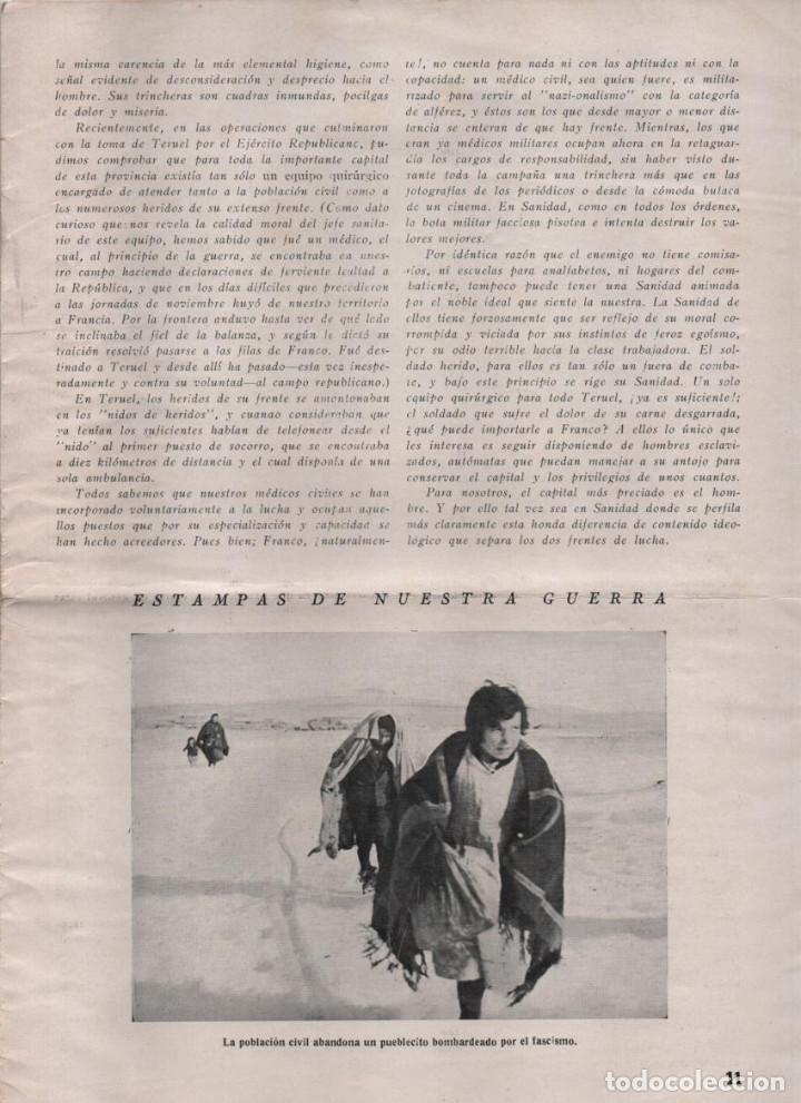 Militaria: LA VOZ DE SANIDAD, REPUBLICA- DEL EJERCITO EN MANIOBRAS- AÑO I , Nº 1 - FEBRERO 1938,- 12 PAGINAS, - Foto 8 - 226789640