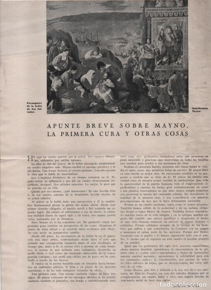 Militaria: LA VOZ DE SANIDAD, REPUBLICA- DEL EJERCITO EN MANIOBRAS- AÑO I , Nº 1 - FEBRERO 1938,- 12 PAGINAS, - Foto 9 - 226789640