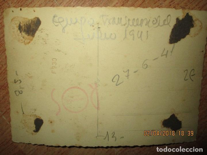 Militaria: equipo FUTBOL MILITAR TRANSMISION DE JULIO 1941 CEUTA DIVISION AZUL VOLUNTARIOS - Foto 4 - 226816975
