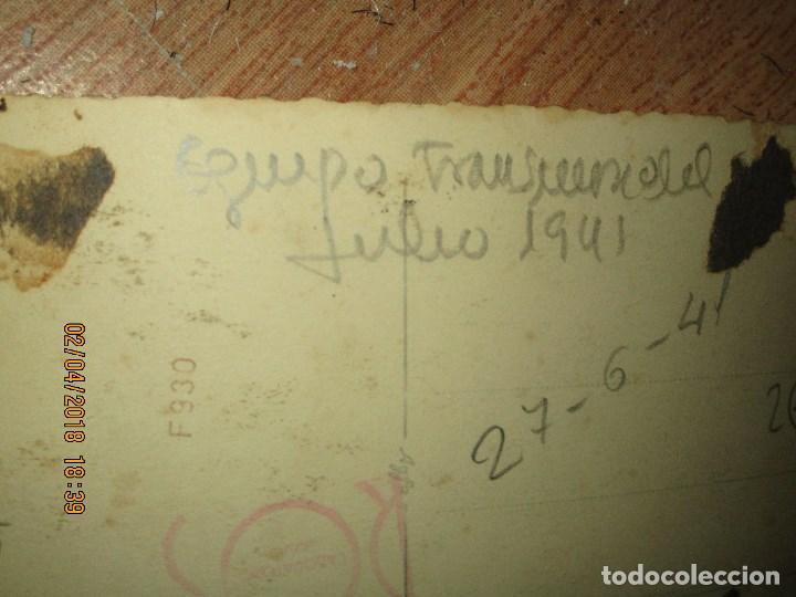 Militaria: equipo FUTBOL MILITAR TRANSMISION DE JULIO 1941 CEUTA DIVISION AZUL VOLUNTARIOS - Foto 5 - 226816975