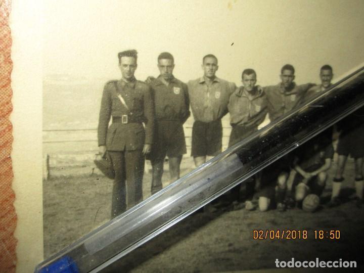 Militaria: equipo FUTBOL MILITAR TRANSMISION DE JULIO 1941 CEUTA DIVISION AZUL VOLUNTARIOS - Foto 3 - 226816975