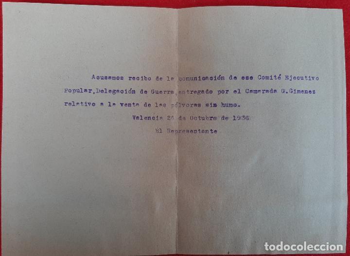 Militaria: DOCUMENTOS COMITE EJECUTIVO POPULAR GUERRA CIVIL UGT CNT 1936 VALENCIA ORIGINAL D7 - Foto 4 - 228013430