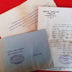 Militaria: DOCUMENTOS COMITE EJECUTIVO POPULAR GUERRA CIVIL UGT CNT 1936 VALENCIA ORIGINAL D7. Lote 228013430