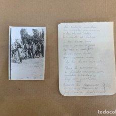 Militaria: GUERRA CIVIL / FOTOGRAFIA + POEMA ORIGINAL / GUADARRAMA / SAN RAFAEL / JUNIO 1938. Lote 228104045
