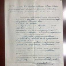 Militaria: CERTIFICADO ORIGINAL Y SU COPIA MECANOGRAFIADA DEL TRIBUNAL MÉDICO MILITAR DE BARCELONA (1938). Lote 228639347