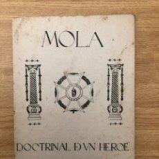 Militaria: MOLA DOCTRINAL DE UN HÉROE Y HOMBRE DE ESTADO 1937 SALAMANCA. Lote 230517790