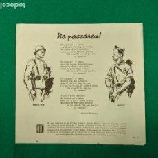 Militaria: GUERRA CIVIL. NO PASAREU.POEMA DE APEL·LES MESTRES. 1936. COMISARIAT DE PROPAGANDA DE LA GENERALITAT. Lote 232428935