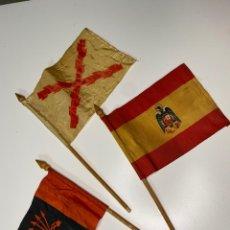 Militaria: CONJUNTO DE BANDERINES MILITARES ESPAÑOLES. Lote 232641215