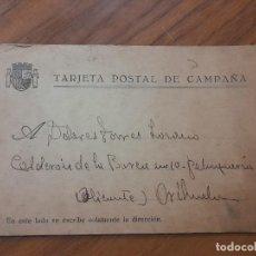 Militaria: TARJETA DE CAMPAÑA 1937. Lote 234321615