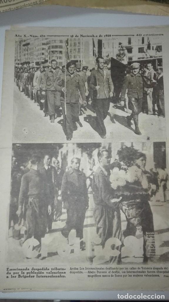 REVISTA CRONICA. DESPEDIDA VALENCIANA A LAS BRIGADAS INTERNACIONALES. 19 DE JUNIO DE 1938. (Militar - Guerra Civil Española)