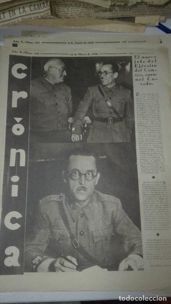 REVISTA CRONICA. EL NUEVO JEFE DEL EJERCITO DEL CENTRO. CORONEL CASADO. 22 DE MAYO DE 1938. (Militar - Guerra Civil Española)