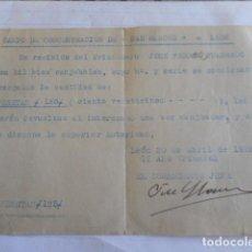 Militaria: CAMPO DE CONCENTRACION 1938. Lote 234856000