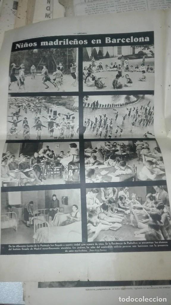 Militaria: LA VANGUARDIA. REPUBLICA. LOS MILICIANOS PASAN. NOTAS GRAFICAS. 4 PAGINAS. 25 DE OCT DE 1936. - Foto 2 - 234899270