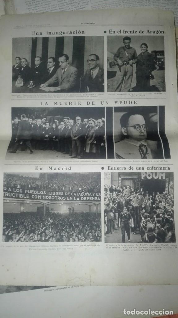 Militaria: LA VANGUARDIA. REPUBLICA. LOS MILICIANOS PASAN. NOTAS GRAFICAS. 4 PAGINAS. 25 DE OCT DE 1936. - Foto 4 - 234899270