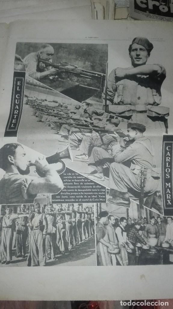 Militaria: LA VANGUARDIA. REPUBLICA. EN EL FRENTE DE HUESCA. NOTAS GRAFICAS. 4 PAGINAS. 28 DE OCT DE 1936. - Foto 3 - 234909705