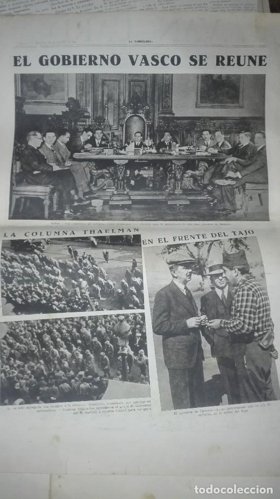 Militaria: LA VANGUARDIA. REPUBLICA. EN EL FRENTE DE HUESCA. NOTAS GRAFICAS. 4 PAGINAS. 28 DE OCT DE 1936. - Foto 4 - 234909705